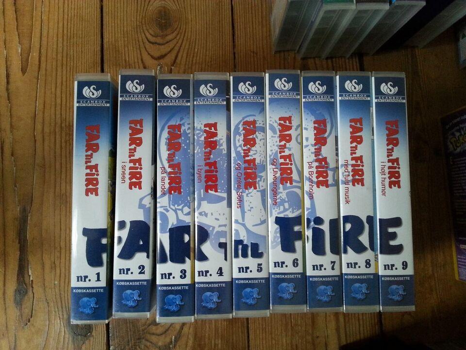 Tegnefilm, VHS: Disney klassikere, Far til fire mm