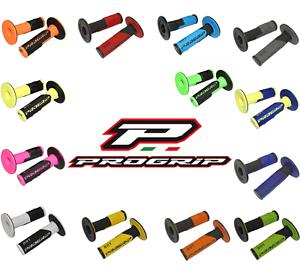 Revêtement poignées PROGRIP 801 moto cross scooter mx enduro motocross bicolore