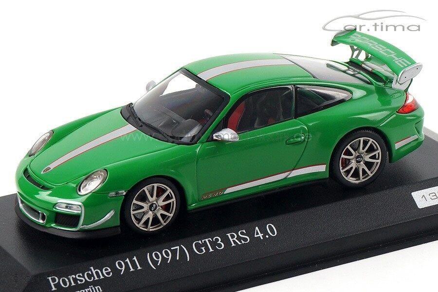 1 43 MINICHAMPS 2011 PORSCHE 911 997 GT3 RS 4.0 4.0 4.0 viper green LE 100 cartima EXCL dbb458