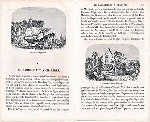 28 Rambouillet à Chartres 1860 guide (17 p.) + 9 xylogr. orig. Maintenon Hanches 8kGGYENx-08014134-108411558