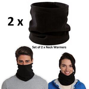2-x-Thermal-Fleece-Neck-Warmer-Tube-Face-Mask-Snood-Scarf-Womens-Ladies-Mens-Ski