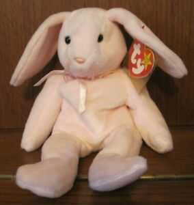 Ty Beanie Baby 1996 'HOPPITY' the Baby Pink Bunny Rabbit Great for Easter