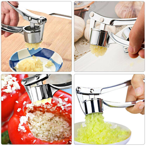 Professional Garlic Press Heavy Duty Zinc Alloy Crusher Slicer Mincer Squeezer