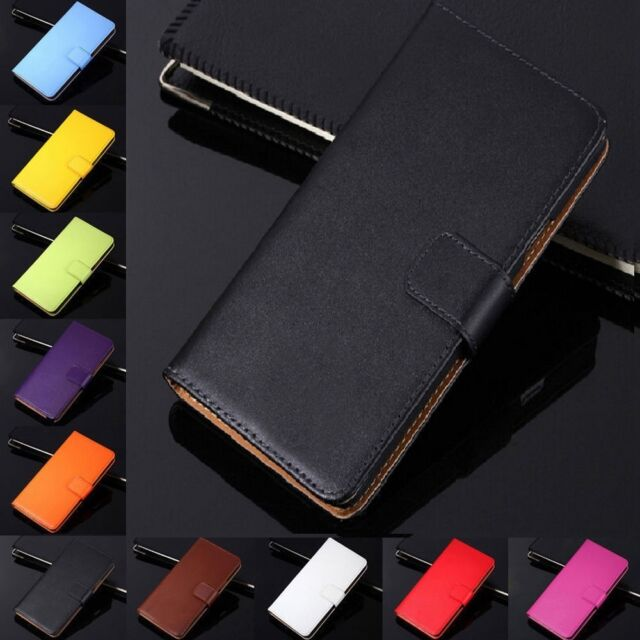 Genuine Leather Wallet Case Flip Stand Cover For LG G2