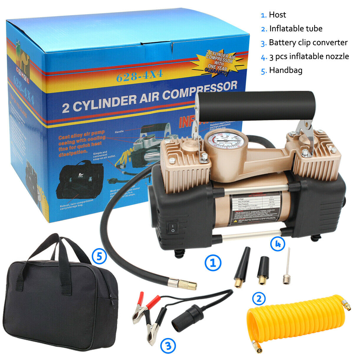12V Car Tire Pump HEAVY DUTY Portable Air Compressor AIR Inflator Auto 150 PSI. Available Now for 41.93