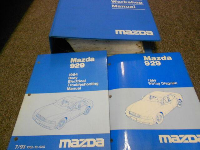 1994 Mazda 929 Service Repair Shop Workshop Manual Set Oem