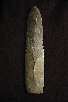 "LANCELOT KNIFE, Blade, Archaic, Paleo Tool, Ohio, with Rogers COA, 7-3/16"""