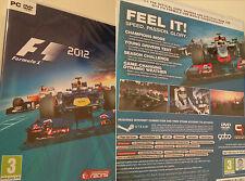 PC Gioco Formula 1 f1 2012 formula 1 F 1 Corse Gara CARS tedesco giocabili