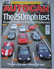 Autocar 8/11/2006 featuring Bugati, Ferrari, Lamborghini, Lotus, Ford GT,Porsche