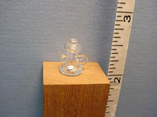 "Dollhouse Miniature Teapot 1//2/"" Scale #HB304 Clear Glass"