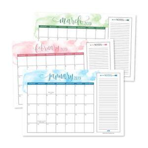 Cute Wall Calendar 2020 Cute Watercolor 2019 2020 Large Monthly Desk or Wall Calendar