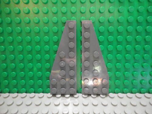 New LEGO Pair of Light Bluish Gray 8x3 Wedge Plates