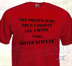 T Shirt Votez Sticule Humour Comique Drole Politiciens Elections Politique Trump Ebay