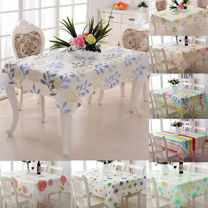 Dinning-Table-Cloth-Clean-Oilcloth-Tablecloth-Cover-Protector-8-Patterns-PVC