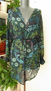 H/&M Conscious Long Sleeve Tunic Top Blouse Size 8 Good used condition