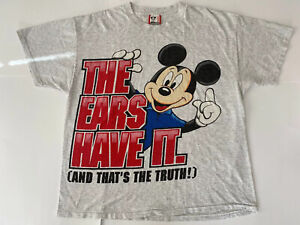 Vintage-Mickey-Mouse-T-Shirt-L-XL-Large-XLarge-Disney-Designs-Rare-USA-Made-S-S