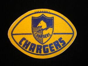 Circa Late 1960 S San Diego Chargers Felt Logo 5 X 4