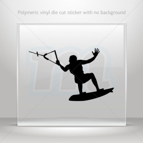 Sticker Decals Kite Surf Figure Helmet Motorbike Bike Garage st5 W7948