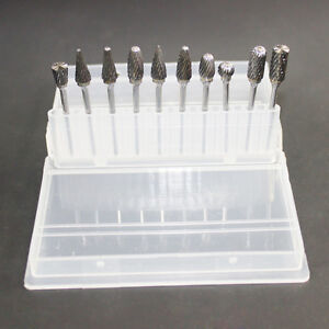 10 Pièces Tungstène Steel Oral Soin Fraises Dentaires Dent Perceuse Tools Kit