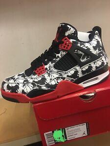 """8e01a3d9520e87 Nike Air Jordan Retro 4 IV """"Tattoo"""" """"Singles Day"""" Size 11.5 BQ0897 ..."""