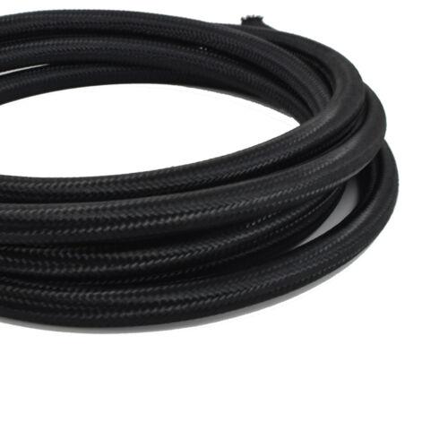 4 AN 10 Feet 4AN Black Nylon Steel Braided Hose for Fuel Oil Coolant Air