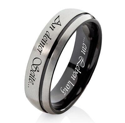 FleißIg Verlobungsring Ehering Damenring Oder Herrenring Aus Titan Mit Lasergravur H137e