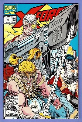 X-Force #9 (Apr 1992, Marvel) Rob Liefeld cover, Cable & Domino ...