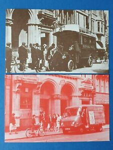 Pair-of-Vintage-1980s-Postcards-of-Croydon-Post-Office-in-1905-amp-1983-BT6