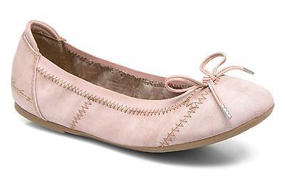 Mustang para mujer UK 4 EU 37 Rosa Rosado Nuevo Plana Bailarina De Ballet Zapatos De Salón