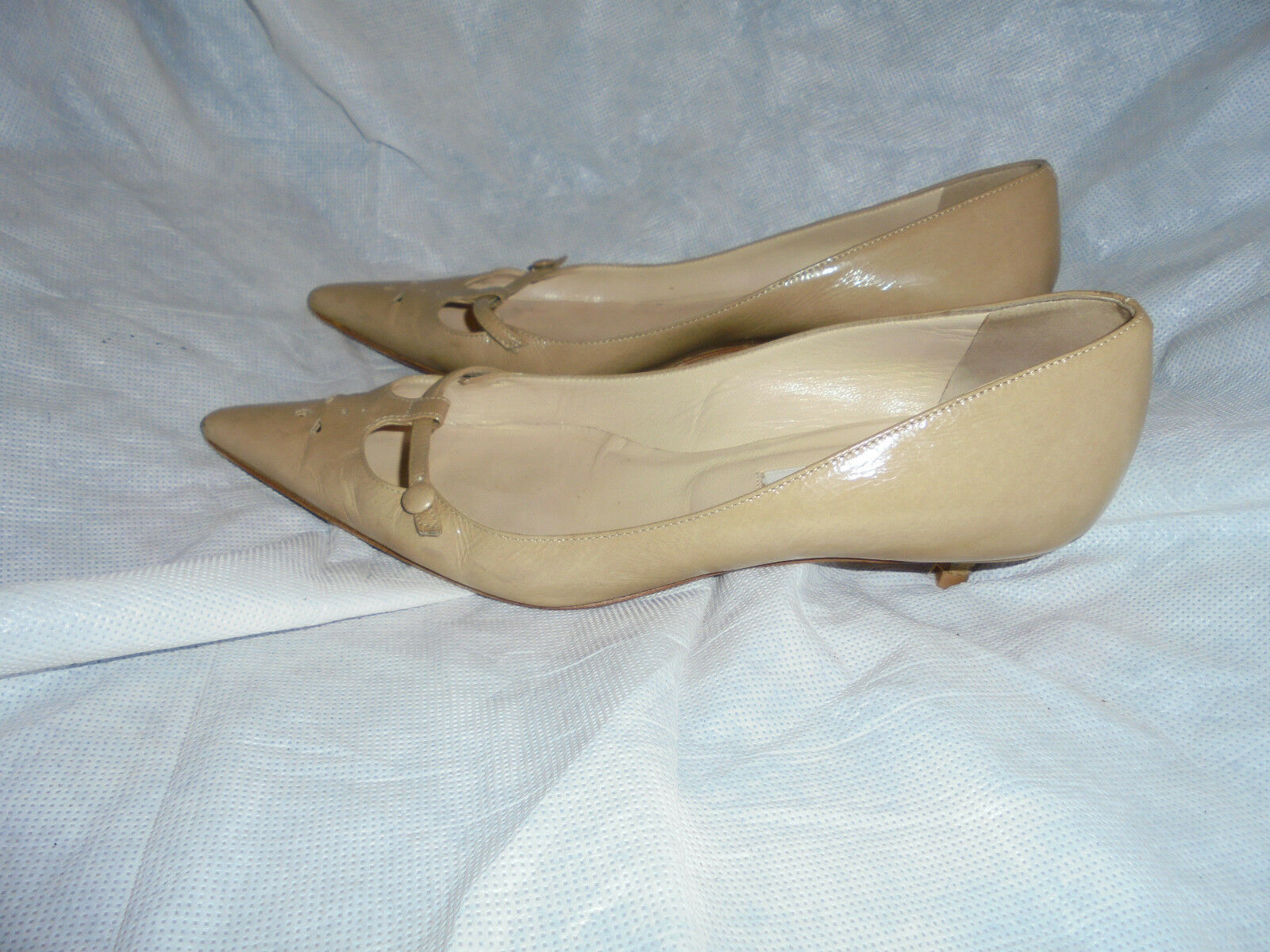 JIMMY CHOO WOMEN'S NUDE LEATHER SLIP ON Schuhe  SIZE VGC UK 5 EU 38 VGC SIZE f625a0
