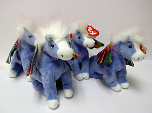 13c98b02564 Ty Beanie Baby Pegasus Flying Horse PRISTINE CLEAN Brand New MINT w ...