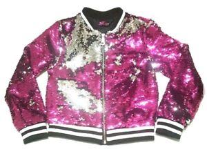 e184e98aff1 Details about JoJo's Closet - Jojo Siwa Flip Sequin Bomber Jacket Pink  Girls Size XS S M L XL