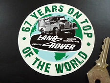 "LAND ROVER DEFENDER 67 Years On Top Of The World STICKER 4"" Classic Landy Ninety"
