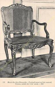 Postcard-Arts-Decorative-Chair-Furniture-Caned-Wood-Natural-XVIII-Edit-ND-397