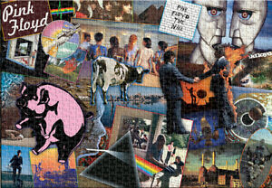 Pink Floyd Collage 1500 Piece Puzzle Jigsaw Puzzle - 33 x 22