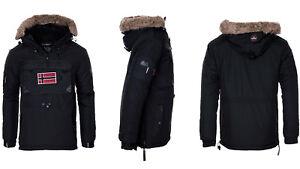 Geographical Norway hombre Cálido chaqueta de invierno Chaquetón Parka negro m