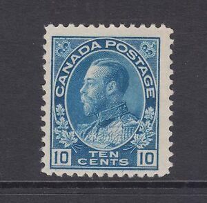 Canada Sc 117 MLH. 1922 10c blue KGV Admiral, Wet Print