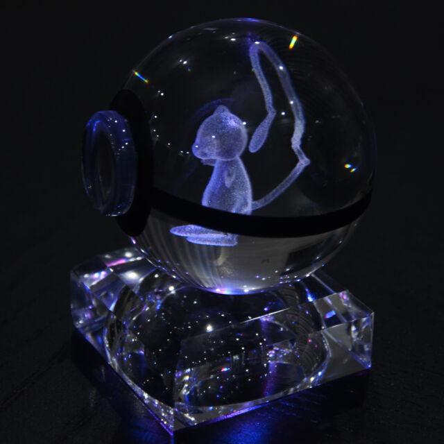 3d Dragonite K9 Crystal Pokemon Elf Night Bedroom Desk Table RGB LED Light  Lamp