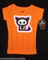 Skelanimals Kit The Cat Girls Orange T-shirt (sizes: Xs 4/5, S 6/6x)