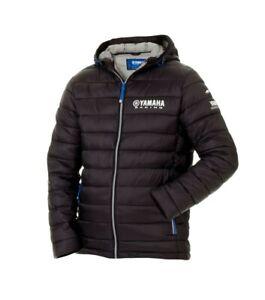 Genuine-Yamaha-Paddock-Blue-Men-039-s-Padded-Jacket-Kitak-Black-Hooded-Jacket-NEW