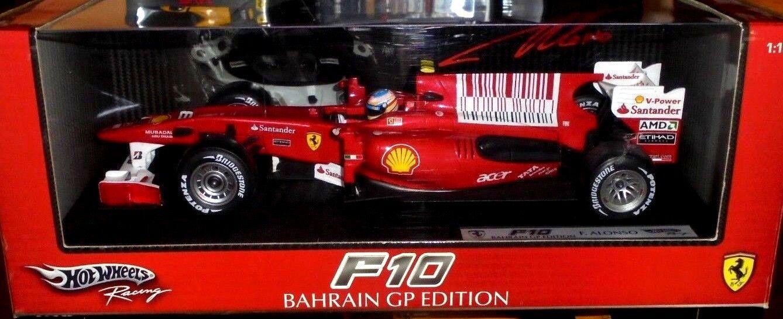 car 1/18 HOT WHEELS T6287 FERRARI F10 #8 F.ALONSO BAHREIN GP 2010 NEW BOX | à La Mode  | Grandes Variétés  | Paquet Solide Et élégant  | Outlet Online Shop