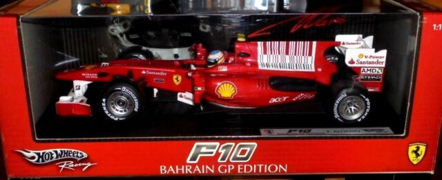 car 1/18 HOT WHEELS T6287 FERRARI F10 #8 F.ALONSO BAHREIN GP 2010 NEW BOX