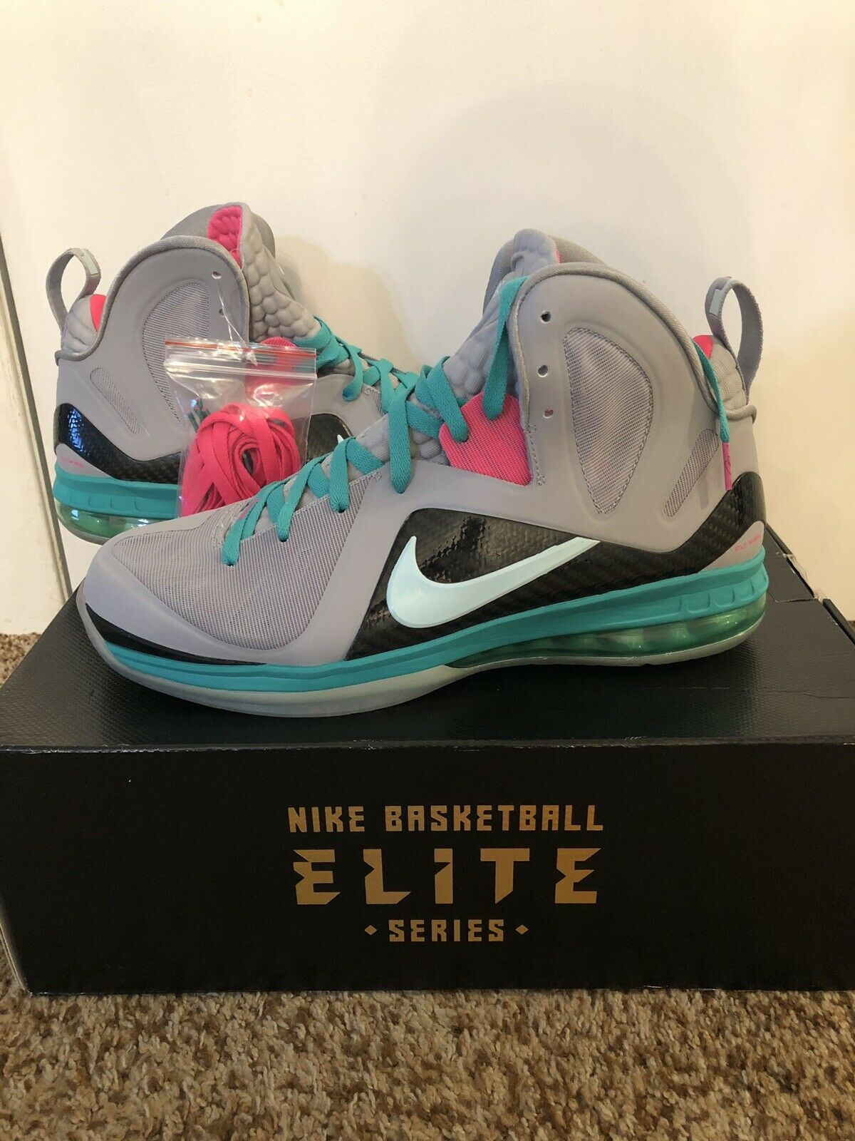 Nike Lebron 9 P.S. Elite South Beach Size 12 NEW