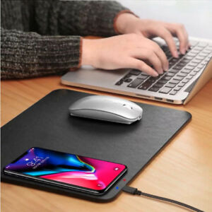 Qi-Wireless-Charger-Charging-Mouse-Pad-Station-for-Apple-iPhone-X-XS-8-8-Plus