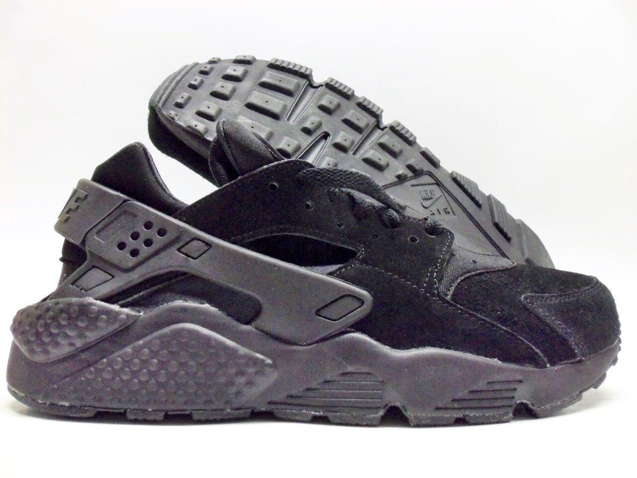 Nike air huarache correre id triplo nero dimensioni uomini 9 [777330-989]