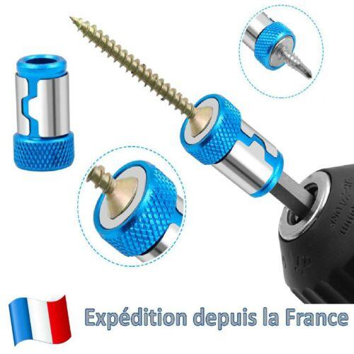 2 X Anneau magnétique Embout de tournevis Fort magnétisme Pratique pour visseuse