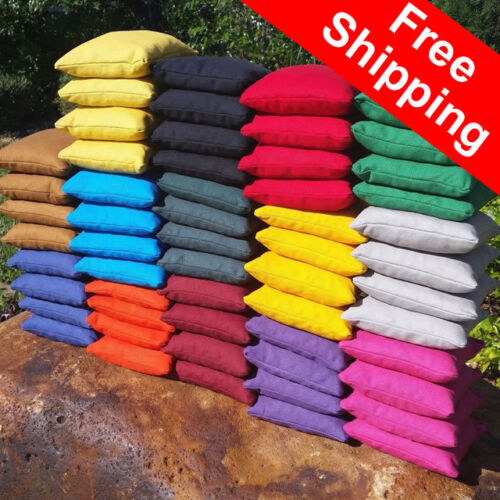 """Set of 8 bean bag toss bags top quality FREE Shipping 6/"""" regulation size"""
