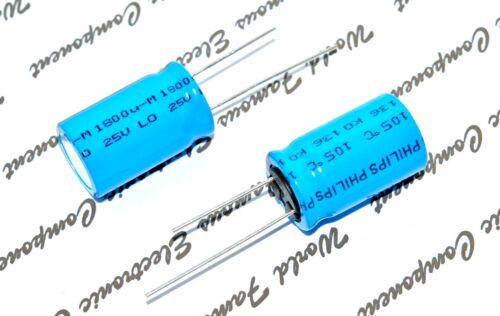 BC 1pcs 136 1800uF 25V 105°C 16x25mm Radial Capacitor Vishay PHILIPS