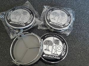 4X-Logo-mercedes-full-black-caps-Cache-moyeu-centre-roue-75mm-jante-badge-AMG
