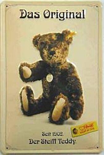hi Steiff Teddy Das Original Geprägte Stahl Schild 300mm x 200mm